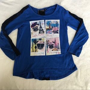 Blue Long Sleeve Travel Shirt